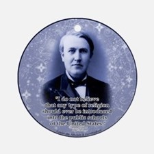 Thomas Edison Ornament (Round)