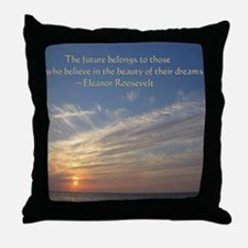Sunset with Quote (Throw Pillow)