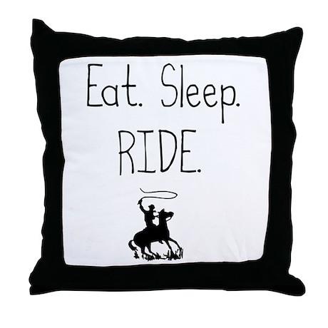 Eat. Sleep. Ride. (Throw Pillow)
