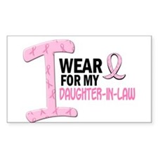 I Wear Pink For My Daughter-In-Law 21 Decal