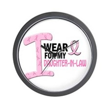 I Wear Pink For My Daughter-In-Law 21 Wall Clock