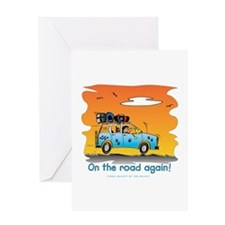 On the Road Again - At Sunset Greeting Card