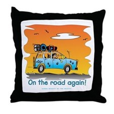 On the Road Again - At Sunset Throw Pillow
