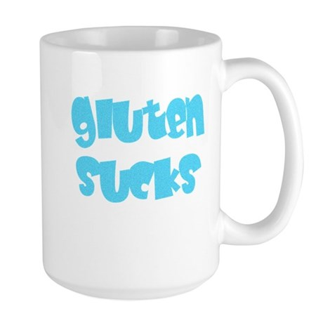 gluten sucks Right Hand Large Mug