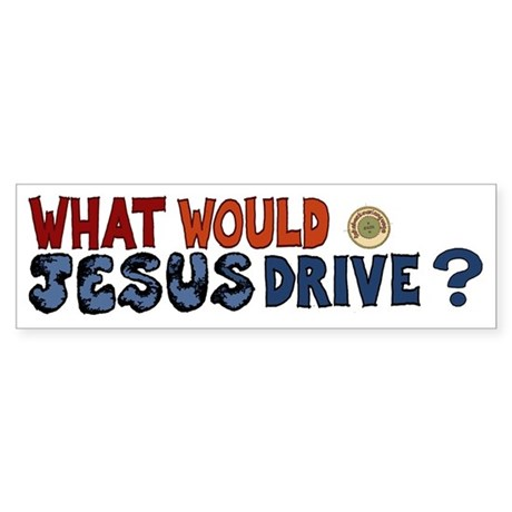 What Would Jesus Drive Sticker