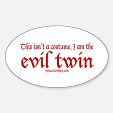 No Costume Twin Oval Decal