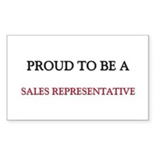 Proud to be a Sales Representative Decal