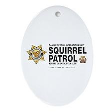 Squirrel Patrol Oval Ornament