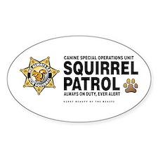 Squirrel Patrol Oval Decal