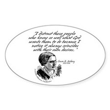 Susan B. Anthony Oval Decal