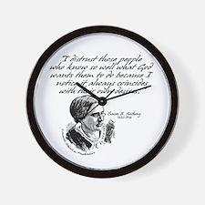 Susan B. Anthony Wall Clock