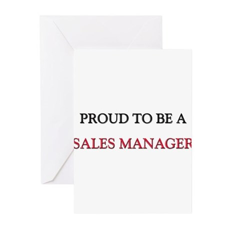 Proud to be a Sales Manager Greeting Cards (Pk of