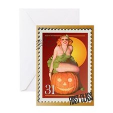 Jack O' Lantern Stamp Greeting Card