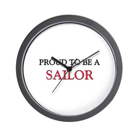 Proud to be a Sailor Wall Clock