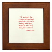 Motivational quote Framed Tile