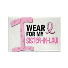 I Wear Pink For My Sister-In-Law 21 Rectangle Magn