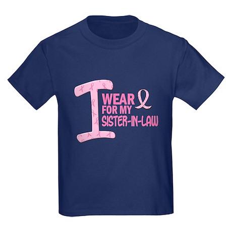 I Wear Pink For My Sister-In-Law 21 Kids Dark T-Sh