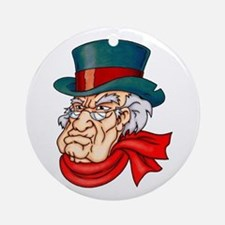 Mean Old Scrooge Ornament (Round)