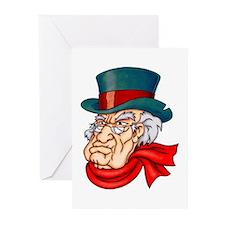 Mean Old Scrooge Greeting Cards (Pk of 20)