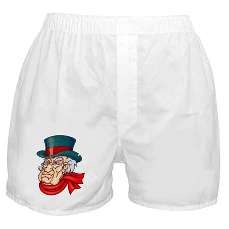 Mean Old Scrooge Boxer Shorts