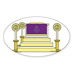 The Altar Oval Decal