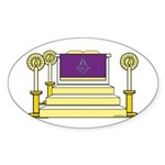 The Altar Oval Sticker