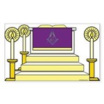 The Altar Rectangle Sticker 50 pk)