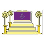 The Altar Rectangle Sticker