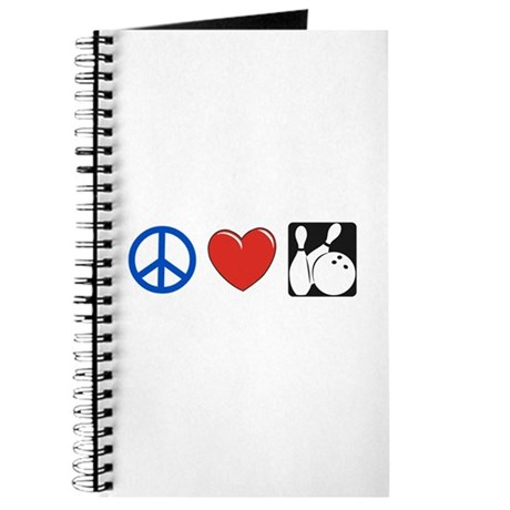 Peace. Love, Bowling Journal