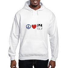 Peace. Love, Bowling Hoodie