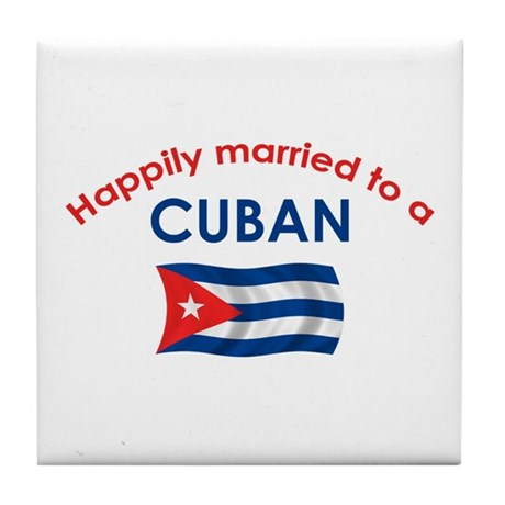 Happily Married Cuban 2 Tile Coaster