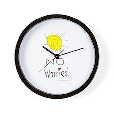 No Worries Wall Clock