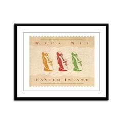 Easter Island Framed Panel Print