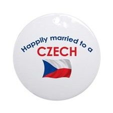 Happily Married Czech 2 Ornament (Round)