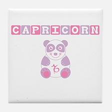 Capricorn Bear - Pink Tile Coaster