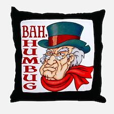 Humbug Scrooge Throw Pillow