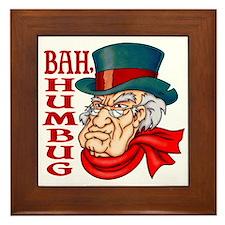 Humbug Scrooge Framed Tile