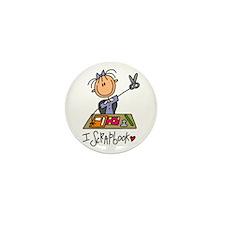 I Scrapbook Mini Button (10 pack)