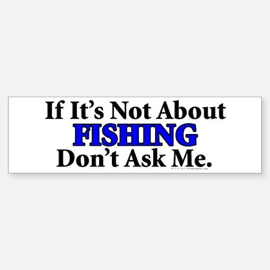 Fishing Bumper Bumper Bumper Sticker