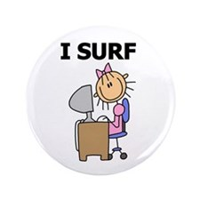 "Female I Surf 3.5"" Button"