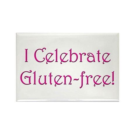 I Celebrate Gluten-free! Rectangle Magnet