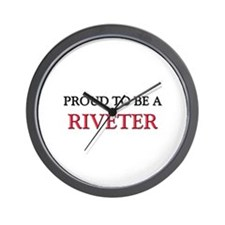 Proud to be a Riveter Wall Clock