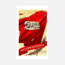 Soviet Lenn Marx Banner Rectangle Decal