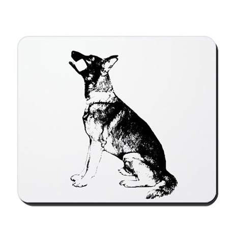 GSD obedience sit Mousepad