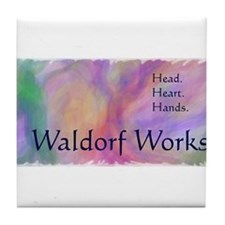 Cute Waldorf Tile Coaster