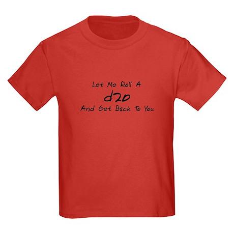 Game Humor - d20 Kids Dark T-Shirt