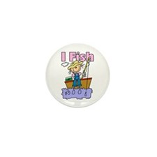 I Fish Mini Button (10 pack)