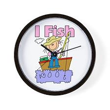 I Fish Wall Clock