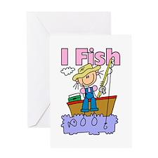 I Fish Greeting Card