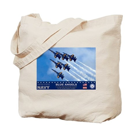 Blue Angels F-18 Hornet Tote Bag